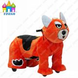Walkiing Plush Happy Coin Operated Animal Scotter Rides für Shopping Center