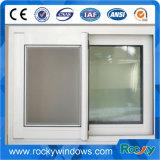 Алюминиевое двойное стеклянное сползая окно с сетью москита