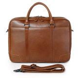 포도 수확 브라운 Mens를 위한 가죽 끈달린 가방 휴대용 퍼스널 컴퓨터 서류 가방
