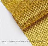 Hoja de Flatback auto adhesivo del Rhinestone de la revisión de la tela de malla de 2 mm Rhinestone Roll (TM-244 / 2mm montana)