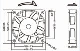 24V 60mm schwanzloser Gleichstrom-Kühlventilator 60X60X15mm