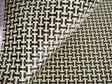 Pano amarelo e preto de Kevlar de 3k 200g da fibra