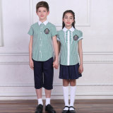 2016 Custom Made Various Colors Shorts Primiary School Uniform Shirt