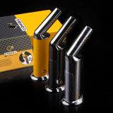 Лихтер сигары факела металла головки шарнирного соединения способа Cohiba Windproof (ES-CA-007)