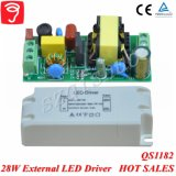 28W externe Singel Spannung lokalisierter LED Fahrer mit Cer TUV