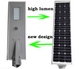 5W-100W tutto in un indicatore luminoso di via solare Integrated del LED con l'iso IP68 di RoHS del Ce del sensore di movimento di PIR approvato