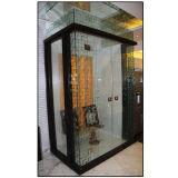 수영장 담, 안쪽 문 유리 또는 샤워 문 공간 판유리