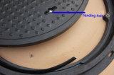 Couverture de trou d'homme vérouillable de la fibre de verre En124 avec le blocage