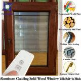 Estándar europeo y americano de estilo popular sólida de roble / madera de teca Ventanas de aluminio, ventana de inclinación y giro con rejilla completa dividida