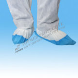 Tampa não tecida do carregador da tampa da sapata da tampa plástica da sapata do azul CPE/PP/PE/PP+PE