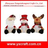 Angefüllte Spielzeug-Weihnachtsdekoration - Weihnachtsmann - Schneemann - Ren