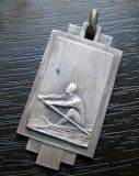 Bestellte Antique Silver Finish Medal mit Ribbon voraus