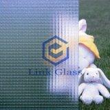 6-7mm con alambre figura patrón de vidrio con AS / NZS 2208