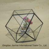 Artigos de vidro coloridos Artigos decorativos de vaso florais de flores