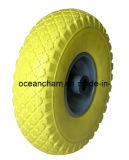Rotelle di schiumatura della carriola di rotella della rotella dell'unità di elaborazione di colore giallo 4.00-8