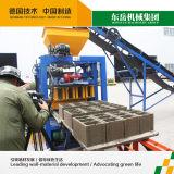 Máquina manual pequena do bloco de cimento Qt4-24 em India