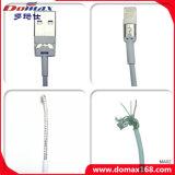 Relámpago blanco del color al cable del USB de los datos del adaptador del cable del USB