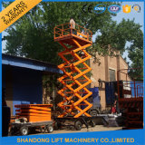 equipo de elevación plegable ajustable de la elevación de mercancías 0.3-20ton de los 20m para el almacén