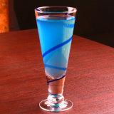 Cuvette en verre en verre de cocktail de cuvette de jus de cuvette de forme de v de cuvette sans plomb d'usager