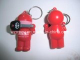 3D Plastic Keyring avec Customized Shape et Logo