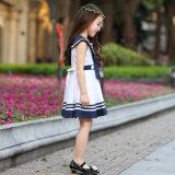 Chasuble plissée élégante faite sur commande de filles d'école primaire de modèle d'uniforme scolaire de filles de robe