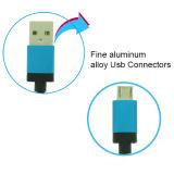 Cabo de dados do USB do cabo do carregador micro com o telefone móvel Android