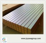 Равнина и прорезанный меламином строительный материал доски MDF
