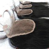 Закрытие шнурка с индийскими человеческими волосами девственницы