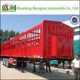 半高品質のバルク閉鎖塀の棒の貨物トラックのトレーラー