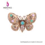 Retro Broche van het Bergkristal van de Vlinder van de Juwelen van de Manier Dierlijke Kleurrijke