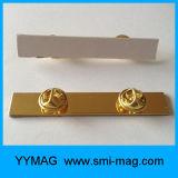 Goldbasisrecheneinheits-Haken-Namensabzeichen-Halter