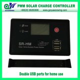 PWM 12/24V 10A/20A Solar Charge Controller com USB & LCD Display