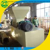 Défibreur de deux arbres pour des plastiques/caoutchoucs/métaux/pneu/sac en bois/tissé/ordures vivantes