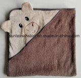 100%年の綿の赤ん坊のフード付きタオル