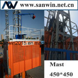 Sc200 2t choisissent l'ascenseur électrique de moteur de la cage 30m/Min 2*11kw
