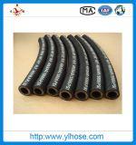4sh 1/2 12mm s'est développé en spirales le boyau hydraulique en caoutchouc