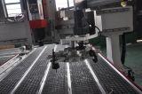 Ranurador 1325 del CNC del Atc del eje de rotación de la refrigeración por aire de Hsd del surtidor de Jinan para el trabajo 3D, el moldeado de la corona y el funcionamiento del marco de la pared