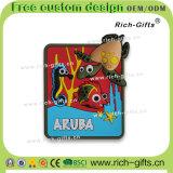 Aimants personnalisés de réfrigérateur de PVC de cadeaux de promotion comme souvenir Aruba (RC-AA)