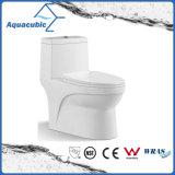 Tocador de cerámica del armario de dos piezas de Siphonic del cuarto de baño (AT1040)