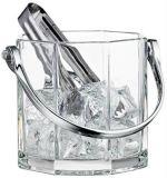 Стеклянное ведро льда с схватом Kb-Hn09116 Ss