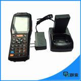 Scanner androïde imperméable à l'eau Industial PDA tenu dans la main de code barres avec l'imprimante thermique