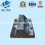 Pièces de machines élevées de doublure de broyeur à boulets de manganèse