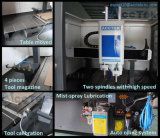 Atc Metal Moulding Machine di CNC di Acctek Akm6090h Good Performance Cast Iron Body con Two Spindles