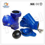 Клапан шарового вентиля чугуна высокого качества вертикальный привинченный