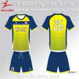 최신 판매 축구 획일한 디자인 파란 Custaom 저어지 셔츠 축구 Unifrom