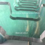 Watercut Holes Tempered Shower Glass para telas e gabinetes de banheiro