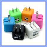 Couleur Folding Dual USB 2.1A Wall Charger pour l'iPhone 6 6plus Cube Charger Block