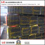 Heißer Verkaufs-schwarzes Quadrat/rechteckiges Stahlgefäß Exportkorea