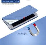 Caisse ultra magnétique de cuir de chiquenaude de luxe pour la galaxie S6 de Samsung
