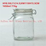 1L食糧ガラスふたが付いているガラス瓶のシール・ガラスの容器